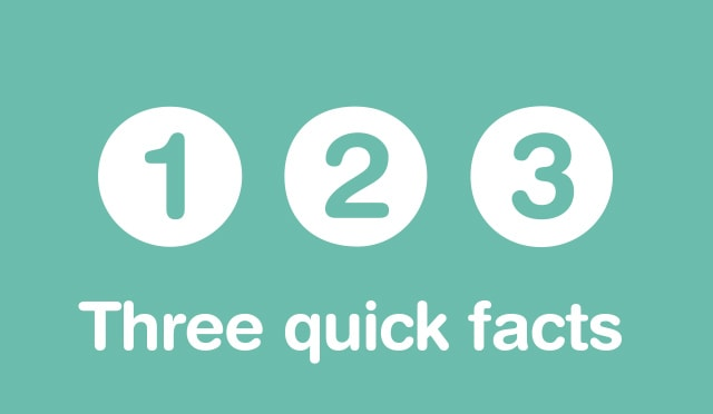 THREE QUICK FACTS
